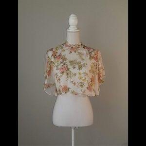 Zara Floral Print Top Blouse
